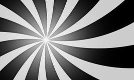 Svartvita radiella linjer bakgrund för tappninggrunge Fotografering för Bildbyråer