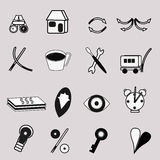 Svartvita rengöringsduksymboler Fotografering för Bildbyråer