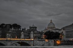 Svartvita Rome Fotografering för Bildbyråer