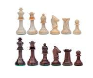 Svartvita schackdiagram Royaltyfria Bilder