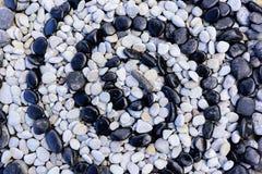 Svartvita stenar för textur Royaltyfri Bild