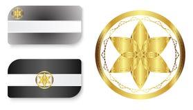 Svartvitt affärskort med logo Royaltyfri Foto