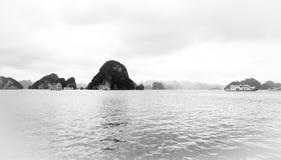Svartvitt av landskap i Vietnam Royaltyfria Bilder