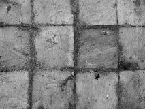 (Svartvitt) fyrkantigt kvarter, Arkivfoto