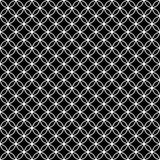 Svartvitt gripa in i varandra cirklar tegelplattamodellrepetition Backgr Arkivfoton