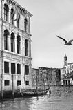 Svartvitt landskap av Venedig Arkivfoton