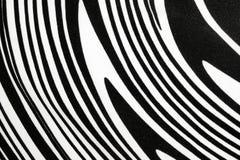 Svartvitt tyg med virvel eller sebramodellen Fotografering för Bildbyråer