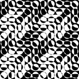 Svartvitt växla diagonalt vägcirkelsnitt vektor illustrationer
