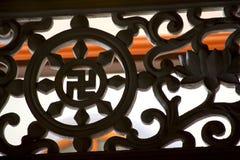 Svastika in tempel royalty-vrije stock foto's
