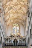 Svata Barbora -St. Barabara church cathedral interior ceiling, Kutna Hora Stock Photography
