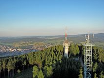 Svatobor military transmitter Royalty Free Stock Images