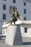 Svatopluk雕象在布拉索夫 免版税库存图片