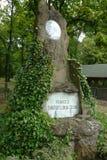 Svatopluk Cech纪念品在Luderov 库存照片
