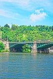 Svatopluk Cech Bridge over Vltava River Prague. Svatopluk Cech Bridge over Vltava River, Prague, Czech Republic Royalty Free Stock Photo