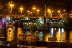 Svatopluk Cech Bridge in Prague Royalty Free Stock Photo