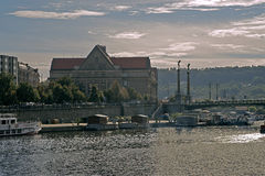 Svatopluk Čech Bridge, Prague,Czech Republic. Svatopluk Čech Bridge or Čech Bridge is an arch bridge over river Vltava Moldau in Prague, Czech Republic Stock Images