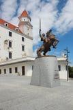 Svatopluk statue in Bratislava Stock Image