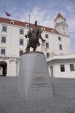 Svatopluk statue in Bratislava Stock Photo