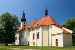 Svaty Kamen baroque church Royalty Free Stock Image