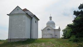 Svaty kopecek - Holy hill near Mikulov in Moravia Royalty Free Stock Photos
