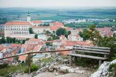 SvatySvaty Kopecek hill above Mikulov city, Czech  Stock Image