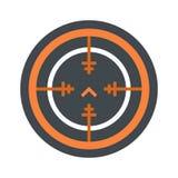 Svd gun aim icon, flat style. Svd gun aim icon. Flat illustration of svd gun aim vector icon for web isolated on white royalty free illustration