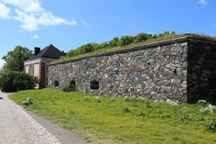 Sveaborg castle wall on the one of the Suomenlinna islands in Helsinki, Finland Stock Photo