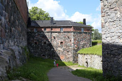 Sveaborg castle wall on the one of the Suomenlinna Stock Photo