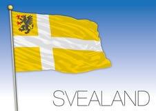 Svealand regional flag, Sweden, vector illustration stock photography