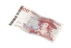 Svedese una banconota da 500 corone svedesi Immagini Stock