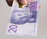 Svedese una nota da 20 corone svedesi Immagini Stock Libere da Diritti