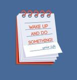 Svegli e faccia qualcosa! Fotografie Stock Libere da Diritti