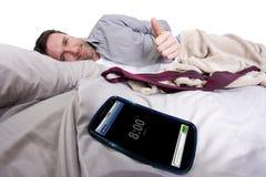 Sveglia del telefono cellulare Immagini Stock Libere da Diritti