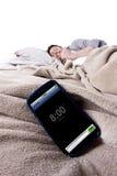Sveglia del telefono cellulare Immagine Stock
