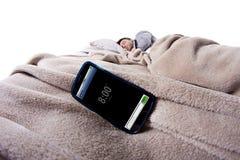 Sveglia del telefono cellulare Fotografie Stock Libere da Diritti