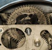 Sveglia dell'annata del movimento a orologeria Fotografia Stock