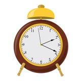 Sveglia di vettore con la campana ed il quadrante illustrazione di stock