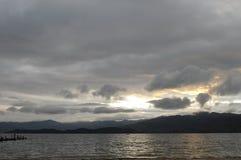 Svegliando sulla spiaggia Fotografia Stock