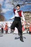 Svegliandosi con il horo - ballo tradizionale bulgaro Immagini Stock
