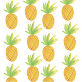 Sveglio, ananas, vettore fotografie stock