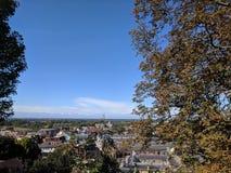 Sveglio pagina di Windsor da alto sul castello immagine stock