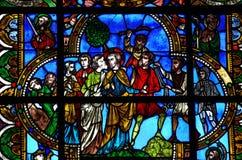 Sveket av Jesus vid judas Arkivbild