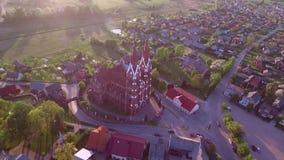 Sveksna kyrka i Litauen arkivfilmer