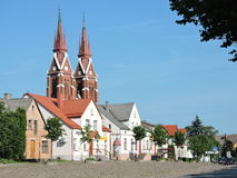 Sveksna town, Lithuania Royalty Free Stock Photography