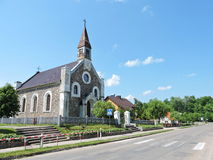 Sveksna town, Lithuania Royalty Free Stock Image