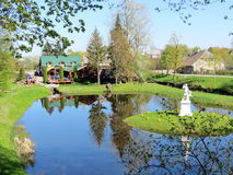 Sveksna's park , Lithuania Royalty Free Stock Image