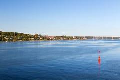 Svendborg από τη θάλασσα Στοκ Φωτογραφίες