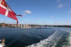 Svendborg with Dannebrog Royalty Free Stock Photos