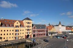 Svendborg Harbour View Arkivbild