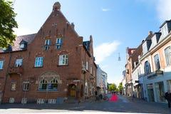 Svendborg pedestrian zone Royalty Free Stock Photography